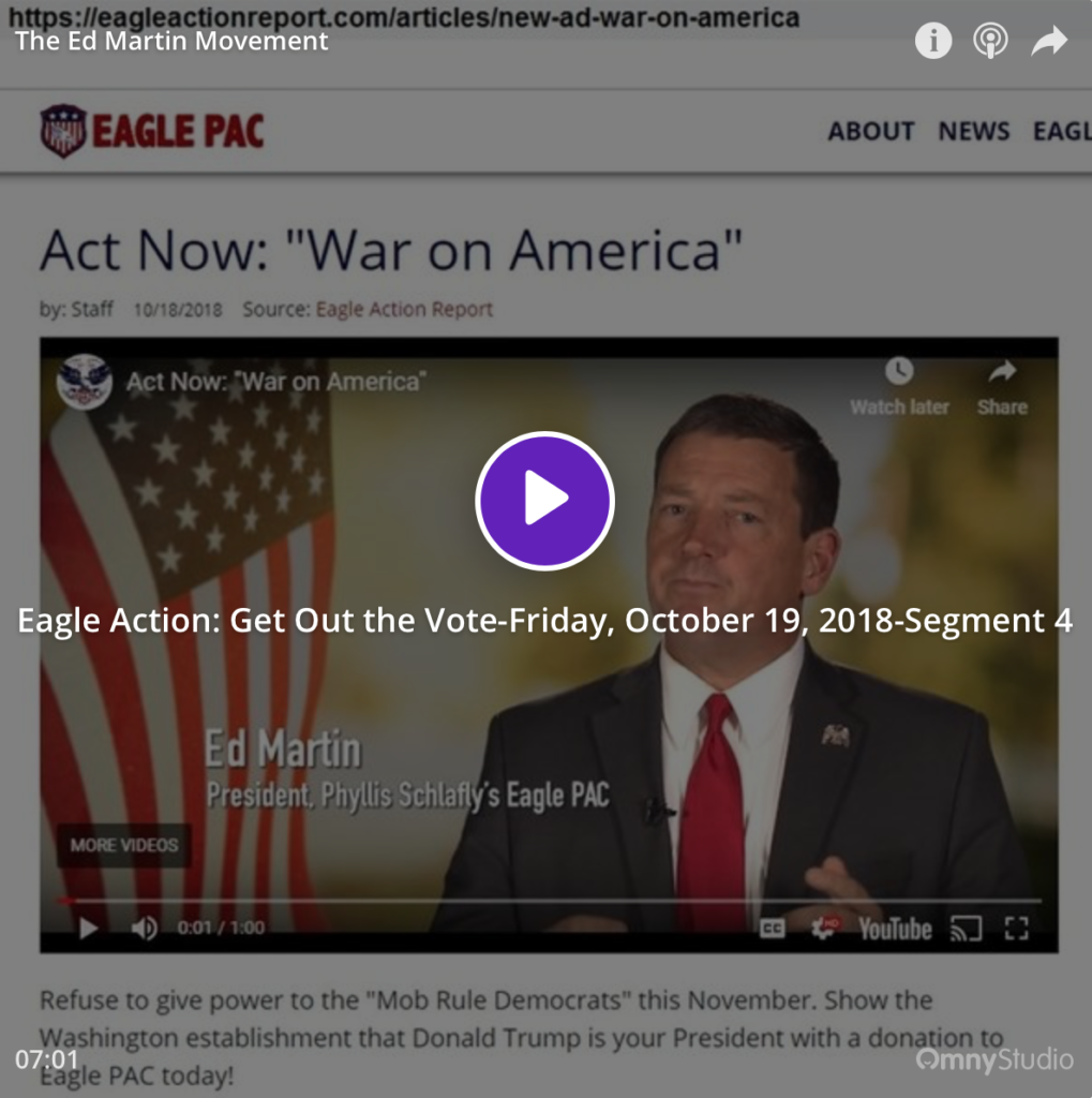 Eagle Action: Get Out the Vote-Friday, October 19, 2018-Segment 4